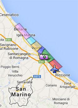 Cartina Italia Riccione.Differenze Tra Le Zone Turistiche Di Rimini