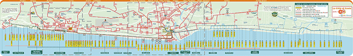 Bus Route Map, Rimini, Italy