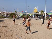 Pay beaches in Rimini, Italy